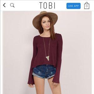 Tobi bell sleeve top